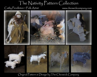 Nativity PATTERN PACKET for all 7 Pieces by cheswickcompany