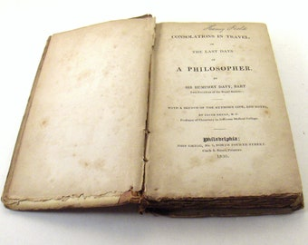 Antique Book 1830 Consolations In Travel or The Last Days Of A Philosopher Sir Humphry Davy - epsteam vestiesteam thebestvintage -