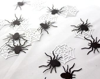 100 Pieces - Large Spider Web Confetti - Perfect for Halloween Parties