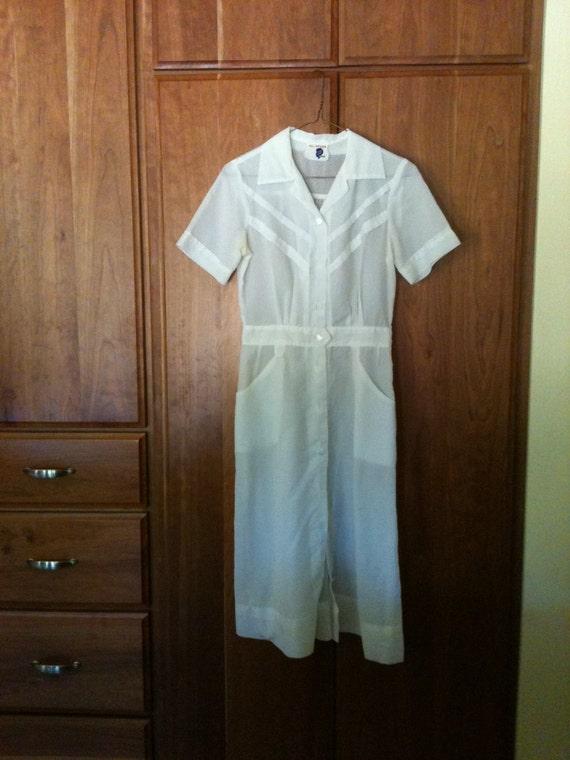 White Nurses Uniform Linda Lane Costume