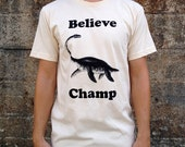 Believe Champ T-shirt, Men's American Apparel Natural Cream Tee