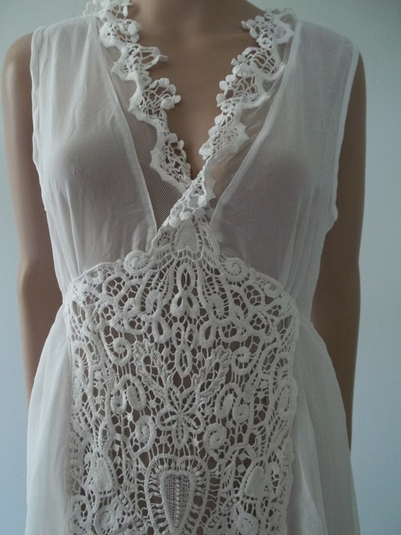 Items similar to Vintage Bridal Lingerie sheer sexy