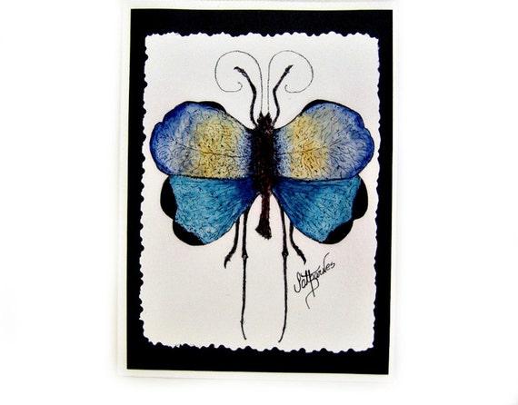 Notecards (Blue Tropical Grasshopper) Signed on Back