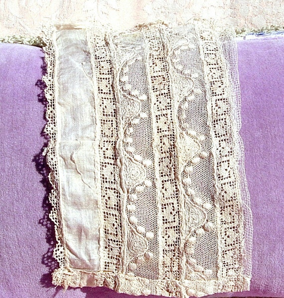 Antique Lace Vintage Lace French Italian Lace Victorian Dress Modesty