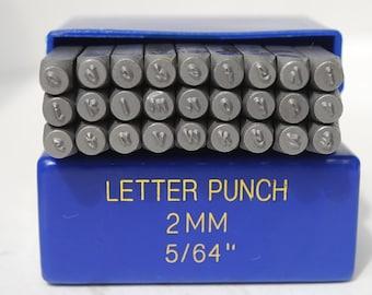 """Metal Stamp Set-Metal Stamping Kit in """"Handwritten"""" font 2mm Lowercase Alphabet Set- Metal Supply Chick"""