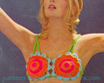 Vintage Crochet Pattern Not for Swimming Bikini PDF 402 from WonkyZebra