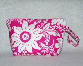Pink Dahlia Wristlet