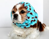 Lucky Ladybug Dog Snood / 100% Donation to Lucky Star Rescue / last one size small