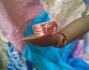 Dreadlock  Rasta Copper Coil  Hair Adornment