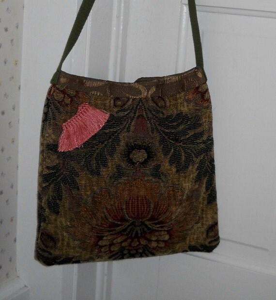 Fabric Shoulder Bag Rustic  Multicolors