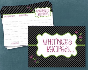 Recipe or Advice & Well Wish Cards. Bun in the Oven. Something for Her / Him.  By Tipsy Graphics.  Printable Cards Any Colors
