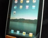 iPad Stand in Sapele and Maple Veneer