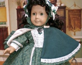 Civil War Era Dress for 18 Inch American Girl Marie Grace Cecile Addy