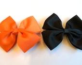 HALLOWEEN colors---2 Large Eloise Ribbon Bows