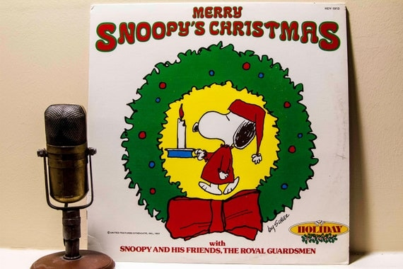 Christmas Vinyl Record Album 1980s Snoopy Peanuts Lp
