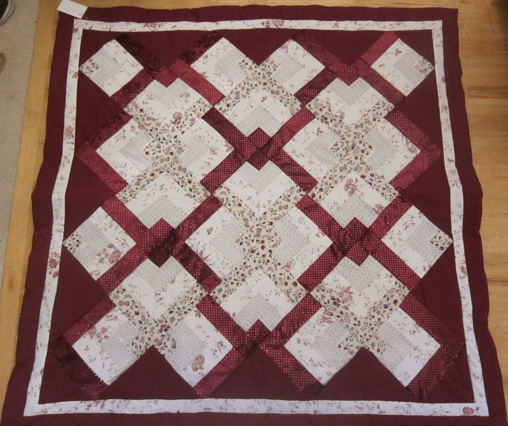 Floral And Wine Sparkle Lover S Knot Lap Quilt