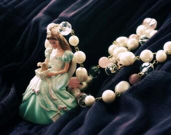 Princess barbie birthday puppy gift necklace