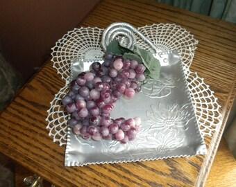Vintage Aluminum Sunflower Platter