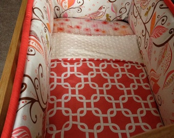 Custom Cradle bedding you choose fabric