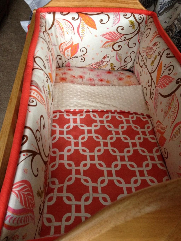 custom cradle bedding you choose fabric