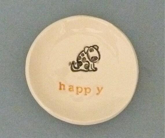 Happy dog dish