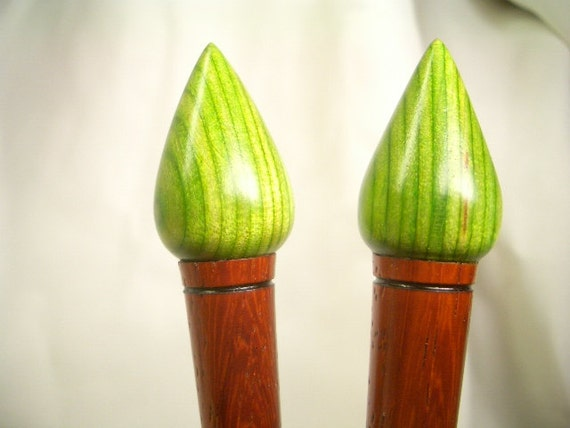 African Padauk, Neon Green topped 2 Stick Set, Forever Yours