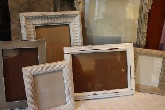 Set of 6  Shabby Chic Victorian  Picture Frames