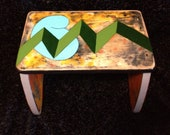 Appreciate Art Childrens Decor Step Stool, Upcycled & Hand-Painted in the USA