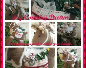 "Handmade ""Reindeer"" Tilda Style"