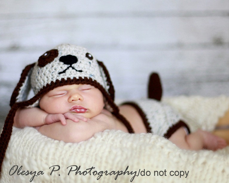 Crochet Dog Hat And Diaper Cover Pattern : Download PDF crochet pattern Puppy hat and diaper cover