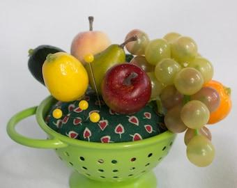 """SALE  Pincushion, """"Freshly Washed Fruit"""""""