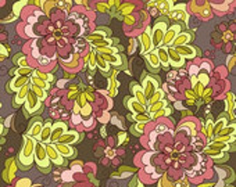Riley Blake Designs Fiona's Fancy Cottons Brown Main Fabric - 1 yard