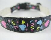 Hemp Dog Collar - All You Need Is Love - 3/4in