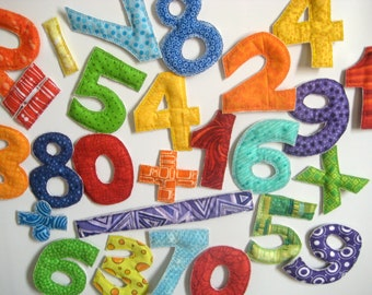 Fabric Magnetic Rainbow Math Set -READY to SHIP-