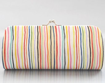 Colour in Stripes in Bright ..Small Clutch Purse