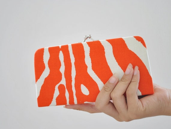 Lauralee in Orange - Small flat clutch