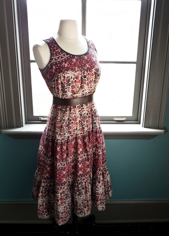 Vintage ethnic INDIA BOHEMIAN summer DRESS