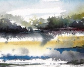 Spirit Lake - Original Watercolor Painting