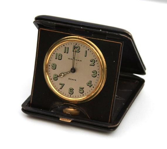 Waltham Travel Clock 8 Days Pocket Watch