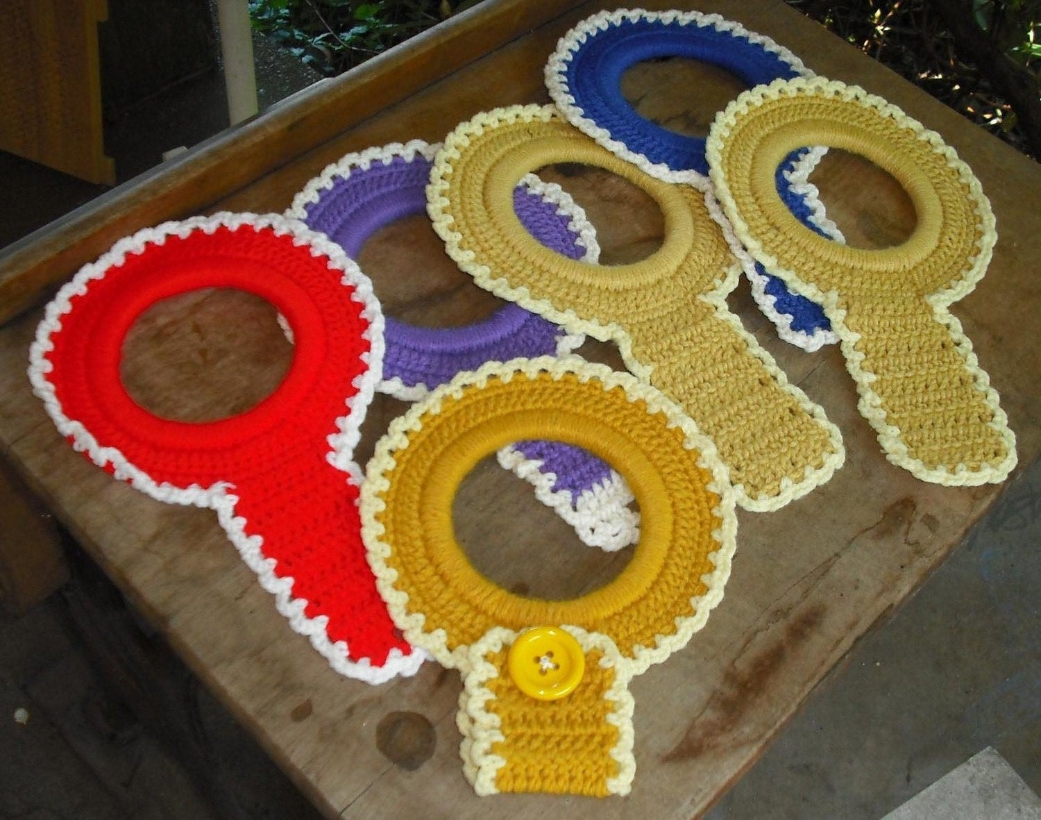 Crochet Kitchen Towel Ring Pattern.CROCHET PATTERN To Make A Towel ...