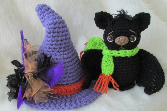Crochet Pattern Bat and Witch Hat Set by Teri Crews instant