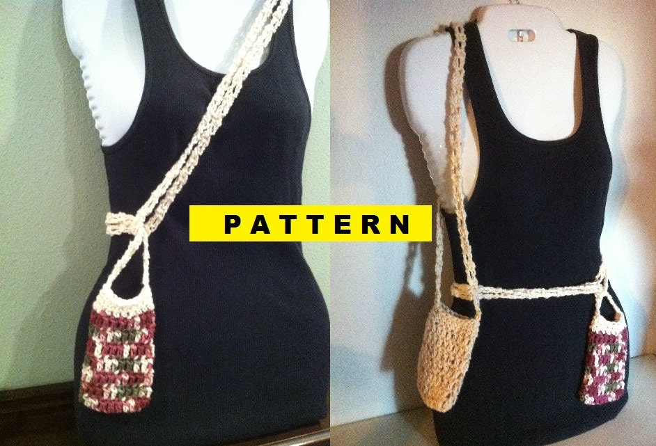 CROCHET PATTERN Cell Phone Holder Purse by CROCHETBYMELISSA