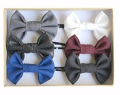 Classic Back To school - Hair bows - Gift Set of 6 Bobby Pins