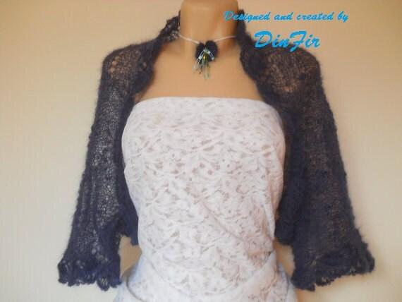 OVERSIZED BOLERO SHRUG / Wedding Accessories Cardigan Jacket Hand Knitted / Women Specialty Sizes Vest Elegant Crocheted Gift Ideas Chic
