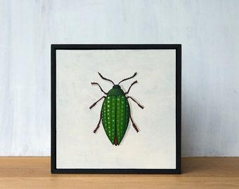 Beetle Original Painting - Jewel Beetle