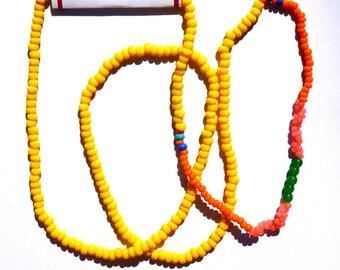 Neon Pastel Bead Necklace