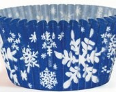 Winter Snowflake Cupcake Liners - Set of 32