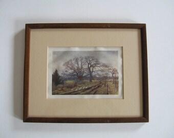 Antique Framed Print Thomas Mower Martin Victoria, BC Canada 1907 Collectible