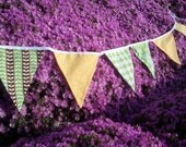 Fabric Bunting Banner - Citrus Splash - Birthday, Engagement Party -  Baby, Bridal Shower - Wedding - Photo Prop