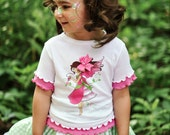 Fairy Girl Shirt - Girls Shirt  - Custom Interchangeable Fairy Shirt - Girls Birthday Shirt